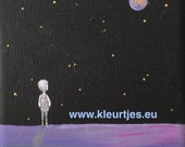 Mini canvas: Watch the Stars and dream...