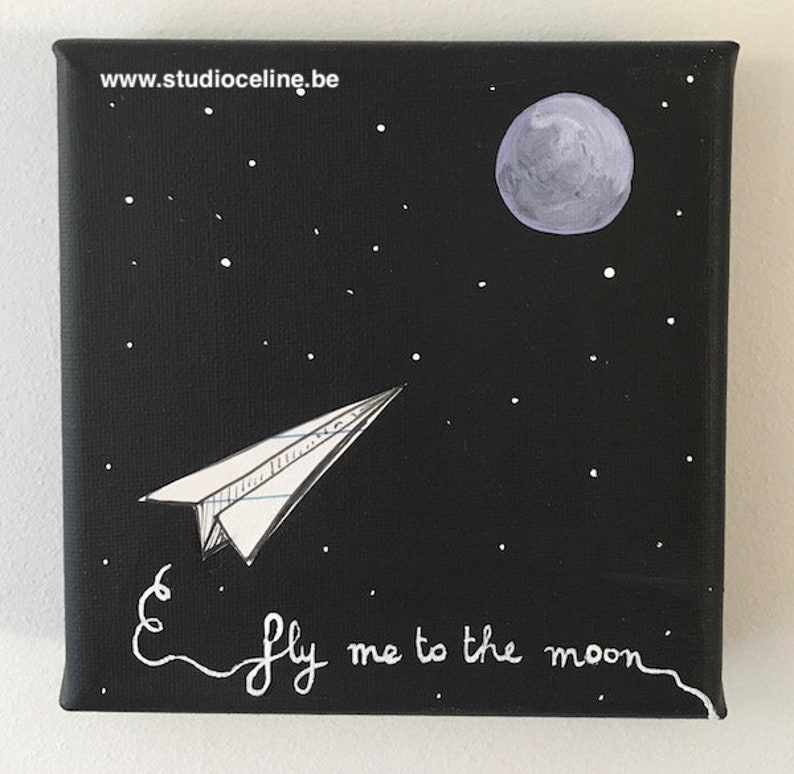 Mini canvas: Fly me to the Moon image 0