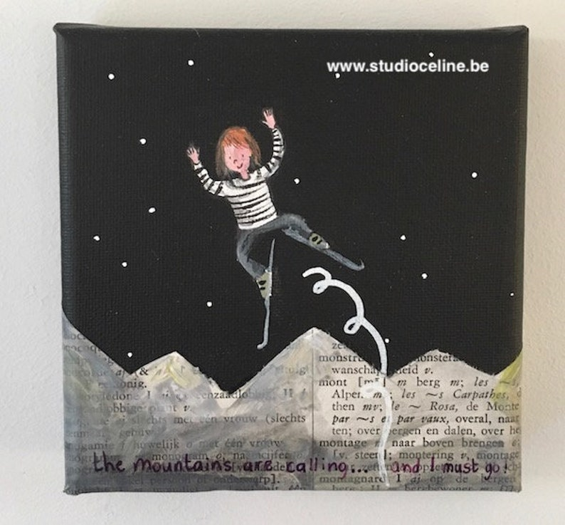 Mini Canvas: The mountains are calling... and I must go. image 0