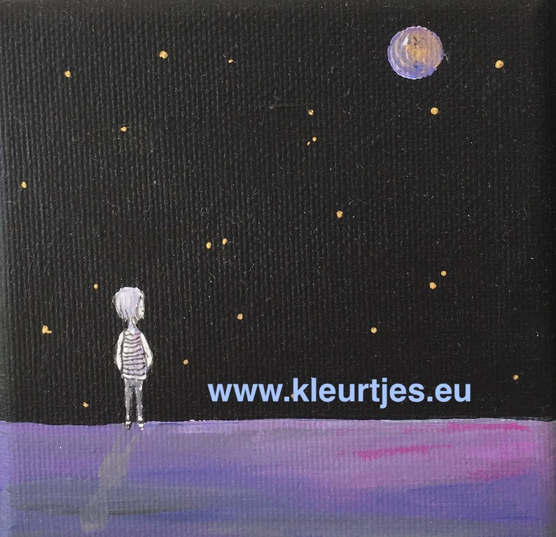 Mini canvas: Watch the Stars and dream... image 0
