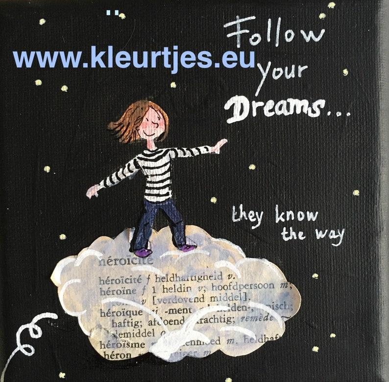 Mini Canvas: Follow Your Dreams image 0