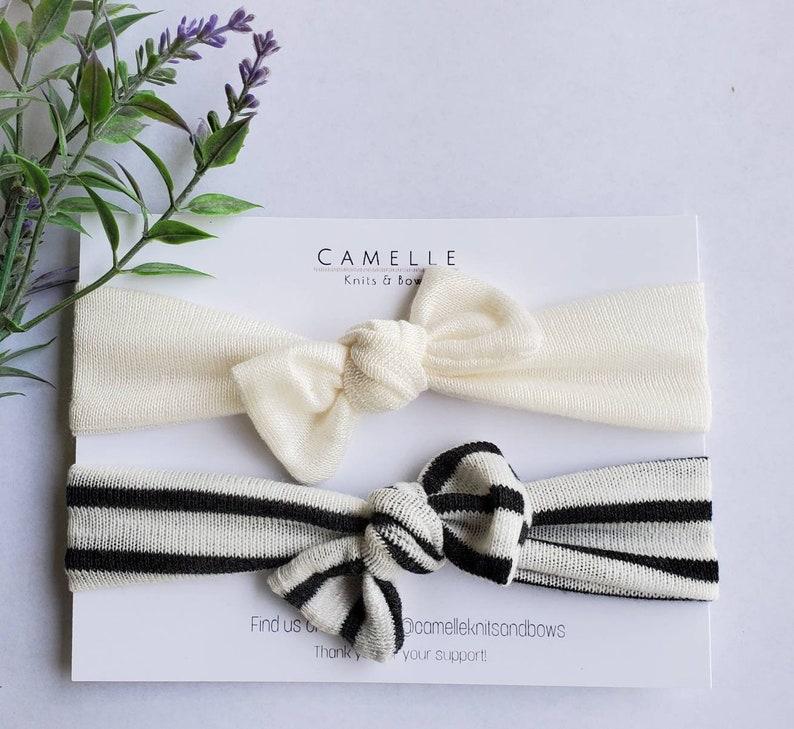 soft headband top knot headwrap Jersey knit bows headband for baby Summer Headbands-soft headwraps knit fabric headband headband set