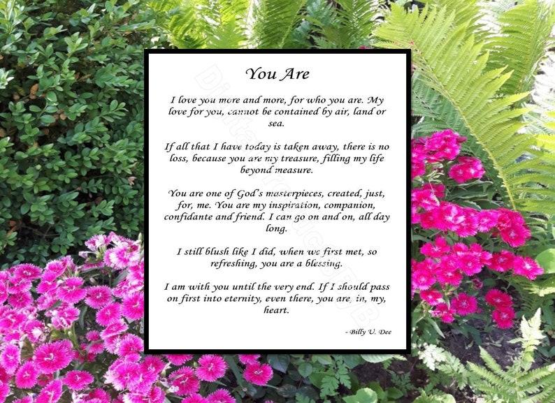 You Are Poem Love Poem For Wife Husband Love Poem Wedding Etsy