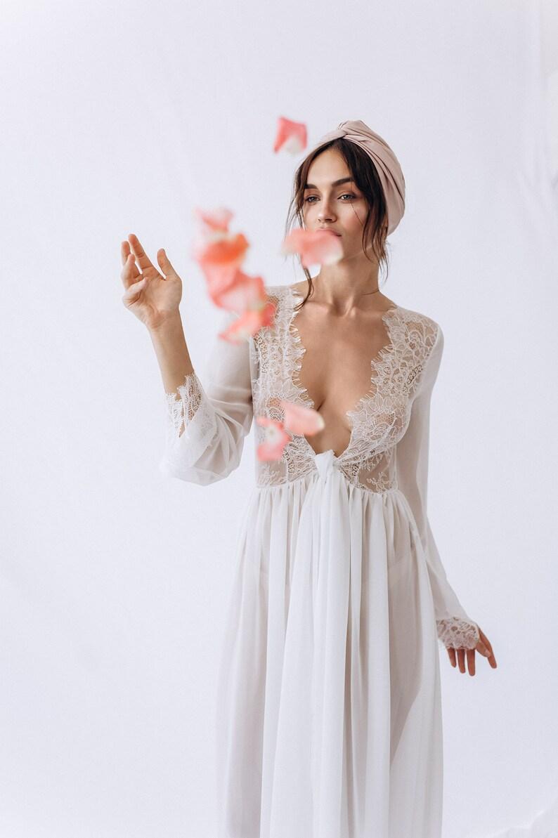 Vestaglia Da Boudoir Sexy Sposa Pizzo Abito DiEtsy Y7g6Ibfyv