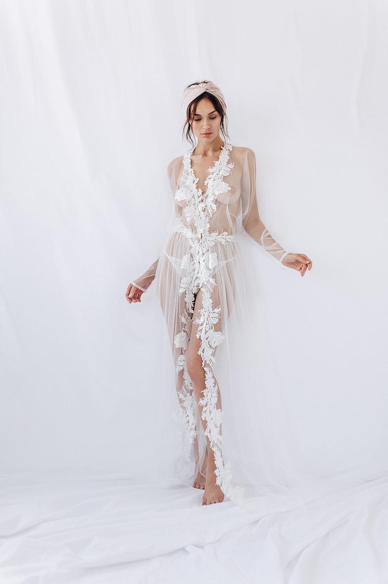 watch 50246 68262 Braut Kleid - BOUDOIR Spitzenkleid - Hochzeit Tag ROBE - Morgen-Dessous -  Long Beach Tüll einfach - sexy Peignoir für Mutterschaft Foto-Shooting