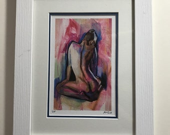 Limited Edition Framed Print of Painting named 'Pink'