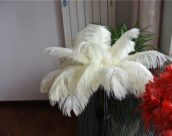 ivory ostrich feather 100 pcs for wedding party centerpiece decor craft supply feather fan supply