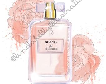 Irish Rose edition Chanel print