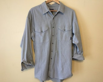 f0a7266d Late 90s Vintage Patagonia Long Sleeve Sz XL Heavy Duty Button Up Organic  Cotton