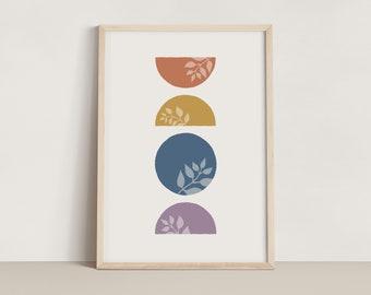 Geometric Leaf Print