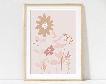 Sunflower Blooms Print - Neutral