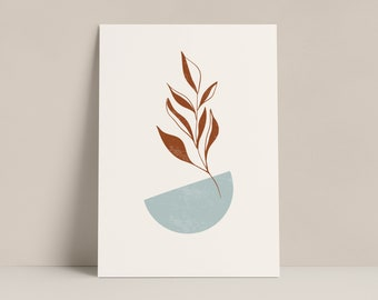 Abstract Leaf Print