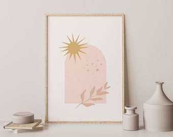 Abstract Sun Print