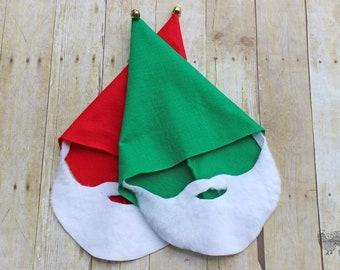52433661a7922 Handmade Elf Hats- Christmas Pageant- Elf Costume- Halloween Costume- Elf  Hat and Beard- ADULT Size