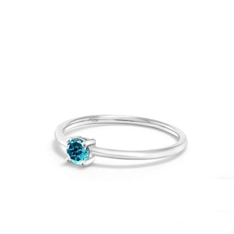 925 Sterling Silver Swiss Blue Topaz Gemstone Women Proposal Statement Promise Birthday Online Gift Jewelry Ring Perfect Ring To Gift Her.
