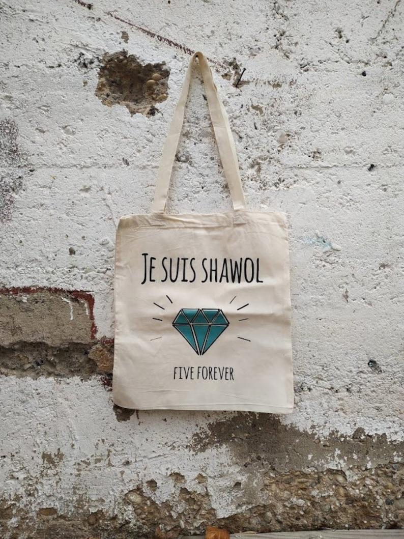Kpop Diamond Shawol Totebag serigraphied 100/% cotton : ShiNee Babbayo