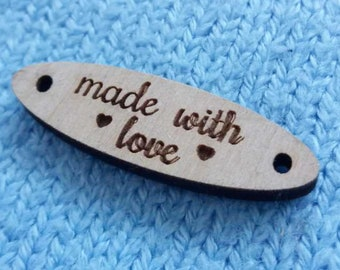 Logo Labels, Personalized tags, Logo tags, Logo Labels for handmade, Custom Logo tags, Custom wood tags, Logo Tags, Knitting Tags