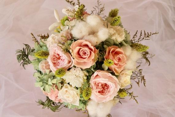 Conserve Le Bouquet De Fleurs Coton Oeillets Hortensias Et Etsy