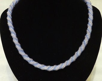 "Bead Necklace ""Frosty Morning"""