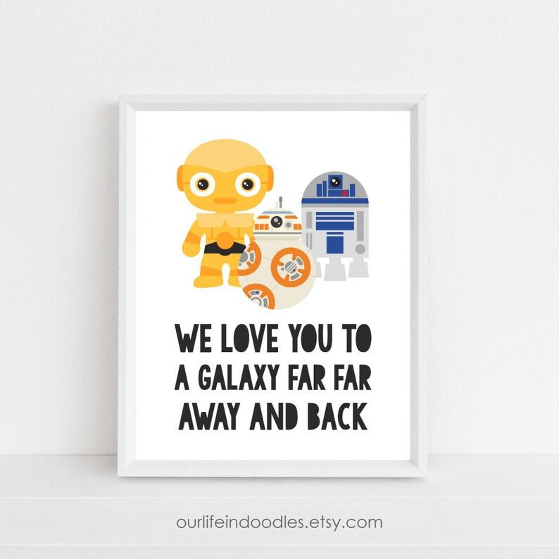 7edbf0974fe3b Star Wars Art Print Galaxy Far Away Kids Playroom Love