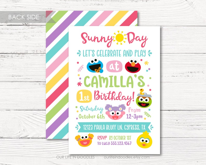 Sesame Street Sunny Days Birthday Party Favor Stickers 2 Sheets Party Supplies