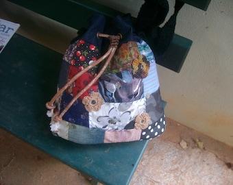 Patch&jeans handbag. Free shipping.