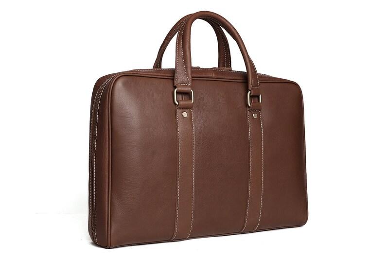 07ed112f5187 Men's Leather Briefcase Laptop bag