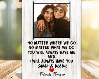 Personalised Best Friend Gift, Moving Best Friend Present Best Friends Forever, Friendship Gift, Friendship Forever