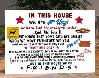 Friends TV Show Personalised Plaque,Friends Birthday Sign Self Standing Wooden