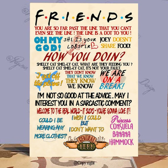 friends tv show quotes plaquefriendship friends gift