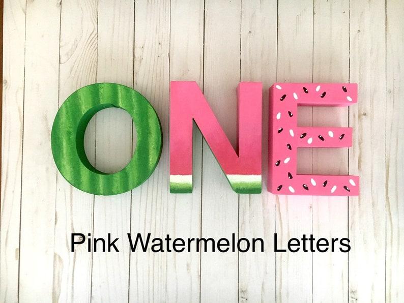 Birthday Party Ideas Watermelon Letters Baby Shower Watermelon Birthday Party One In A Melon 1st Birthday Cake Smash ONE Birthday
