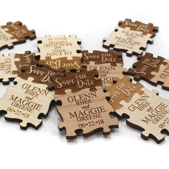 Wood Save the Date Magnets 2x3 inch Personalized Wedding Save the Date Magnets Destination Wedding Announcement Plane Laser Engraved wood