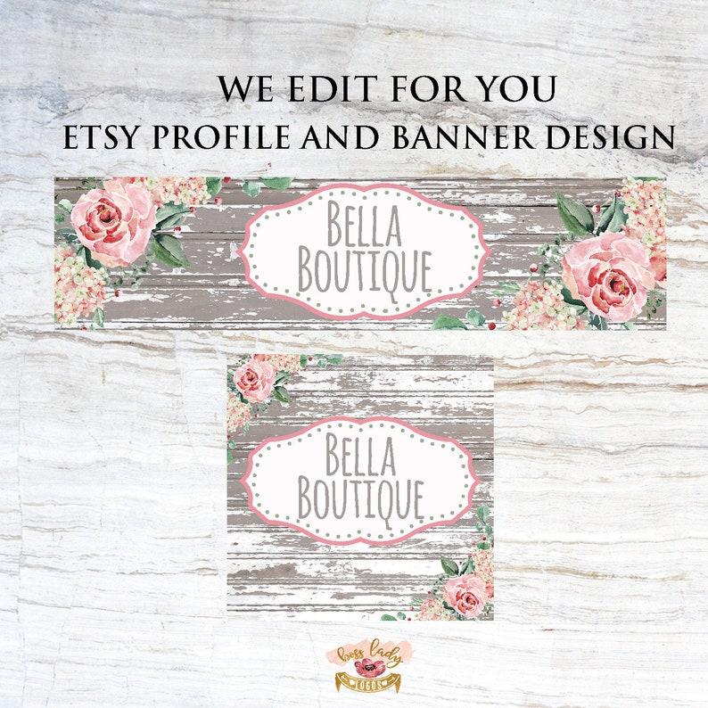 Etsy Cover Photo, Etsy Shop Set, Etsy Banner Design, Custom Etsy Shop  Banner Set, Etsy Profile Picture, Premade Shop Branding Kit, Etsy Shop
