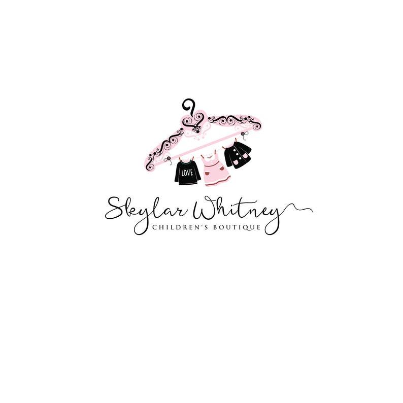 274c6eb5462 Children s Boutique Logo Kids Clothes Hanger Logo Design