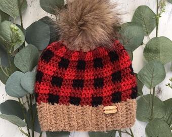 9bb45ef9129 BUFFALO PLAID BABY hat