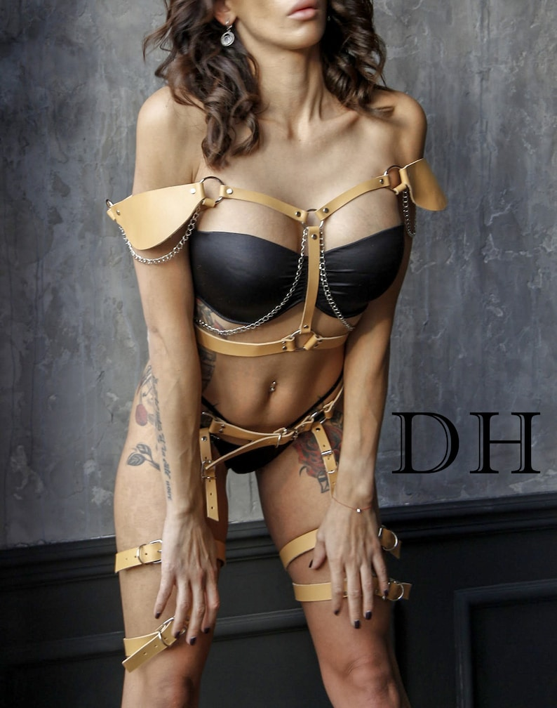 leather body harness for woman Full Underbust leather Underbust corset Bdsm harness Leather bondage Mature bondage leather harness