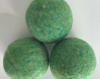 100% Wool Dryer Balls - Green, Bean sprout