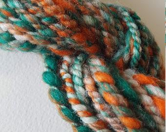 Vibrant Green/Orange Handspun
