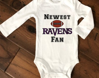 218918d8e Newest Ravens Fan/Baltimore Ravens Football/Baltimore Ravens Baby/Football  Baby/New Dad Gift/Ravens Baby/Personalized NFL Baby/Baby Gift