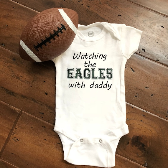 Philadelphia Eagles I Love Watching With Daddy Baby Short Sleeve Bodysuit