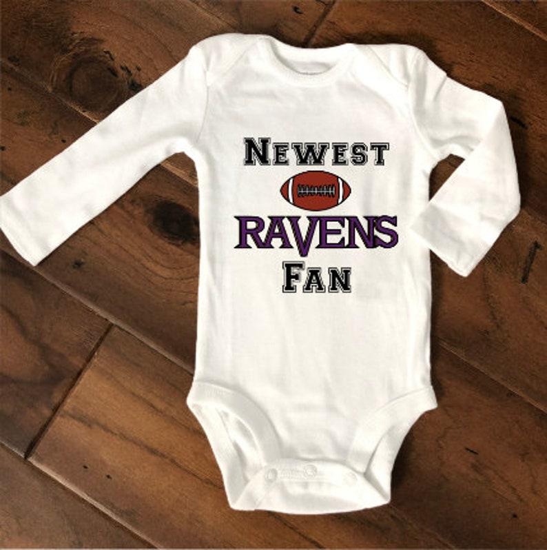 a9e13880 Newest Ravens Fan/Baltimore Ravens Football/Baltimore Ravens Baby/Football  Baby/New Dad Gift/Ravens Baby/Personalized NFL Baby/Baby Gift
