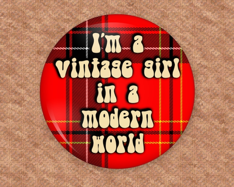 Special request limited time button I'm a vintage image 0