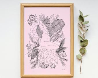RE_POSE Plant Illustration, Body, Pencil
