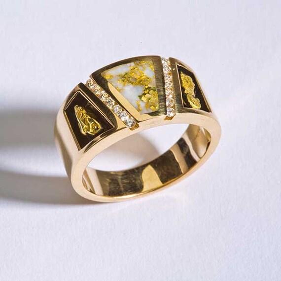 Herren Oder Damen Hochzeit Ring Name 16 Bis 1 Gold Mine Ring Etsy
