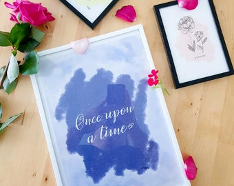 """Poster """"Once upon a time"""" A4 size"""