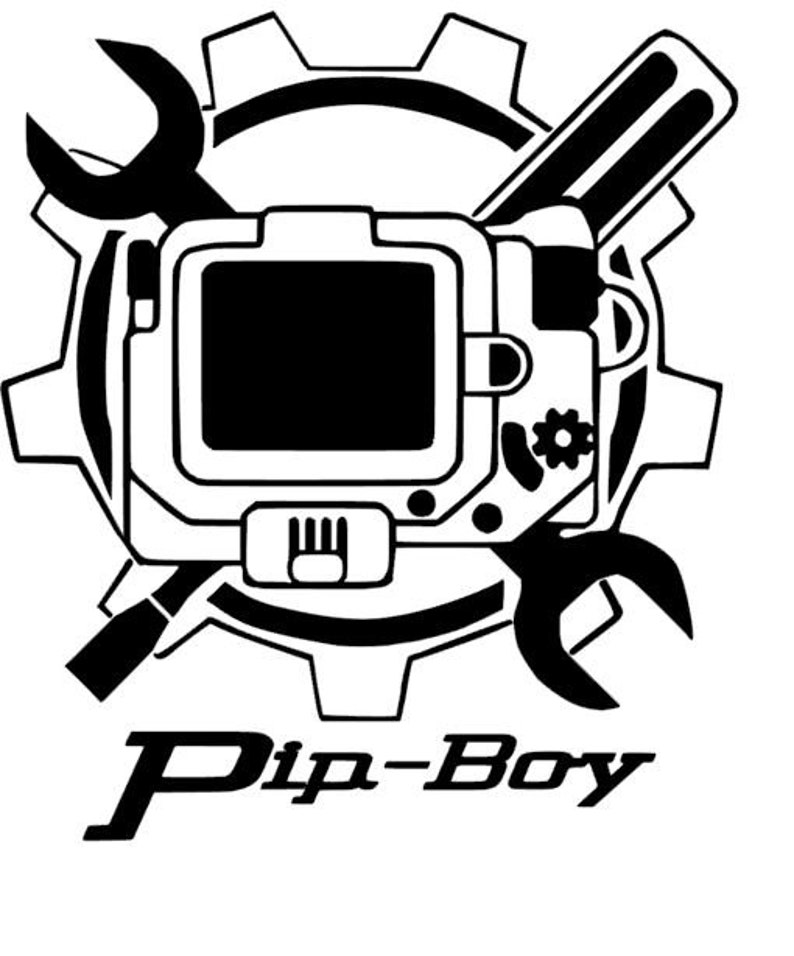 Custom Fallout Pip Boy Vinyl Decal For Car Electronics Home