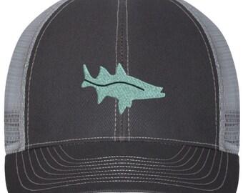360d857a682fb Snook Fish Logo Trucker Style Hat