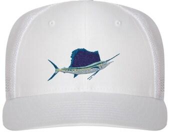 Sailfish Beautiful Original All White Trucker Hat
