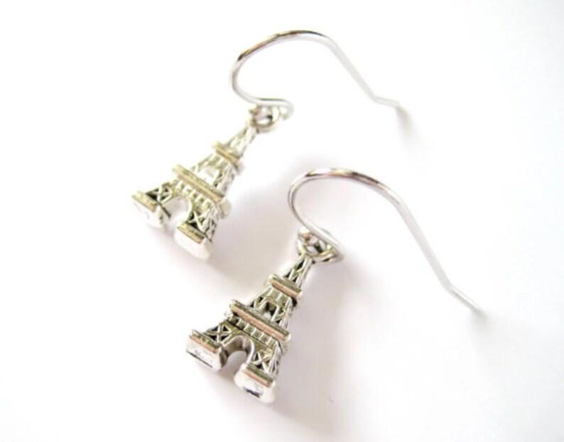 Paris Eiffel Tower Earrings image 0