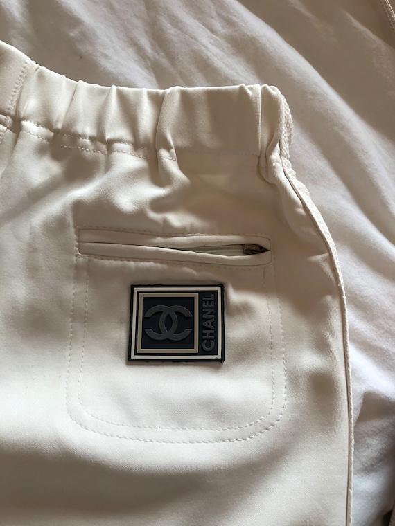 CHANEL LOGO POCKET Track Pants Off-White Cc Jogger